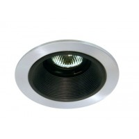 "4"" Low voltage recessed lighting black baffle satin trim"