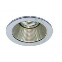 "4"" Low voltage recessed lighting satin baffle chrome trim"