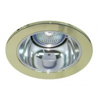 "4"" Low voltage recessed lighting chrome reflector polished brass trim"