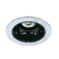 "4"" Low voltage recessed lighting black reflector chrome trim"