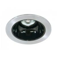 "4"" Low voltage recessed lighting black reflector satin trim"