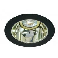 "4"" Low voltage recessed lighting gold reflector black trim"