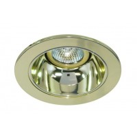 "4"" Low voltage recessed lighting clear lens gold reflector polished brass shower trim"