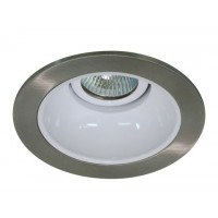 "4"" Low voltage recessed lighting satin reflector white trim"