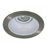 "4"" Low voltage recessed lighting satin reflector white trim"