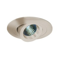 "4"" Low voltage recessed lighting fully adjustable satin baffle satin eyeball trim"