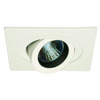 "4"" Low voltage recessed lighting 35 degree tilt fully adjustable black baffle white square eyeball trim"