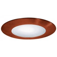 "4"" Recessed lighting compact fluorescent (CFL) albalite lens copper shower trim"