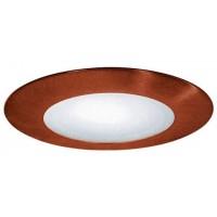 "4"" Recessed lighting compact fluorescent (CFL) albalite lens copper shower trim"