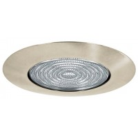 "4"" Recessed lighting glass fresnel lens satin shower trim"