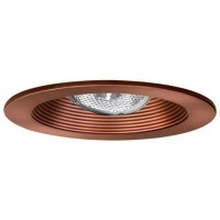 "4"" Recessed lighting adjustable socket bracket bronze stepped baffle bronze trim"