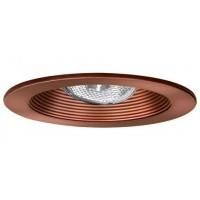 "4"" Recessed lighting adjustable socket bracket bronze stepped baffle bronze trim"