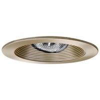 "4"" Recessed lighting adjustable socket bracket satin stepped baffle satin trim"