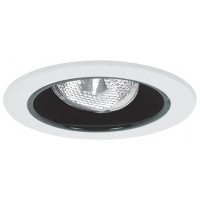 "4"" Recessed lighting adjustable socket bracket specular black reflector white trim"