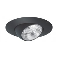 "5"" Recessed lighting Par 30 short neck black eyeball trim"