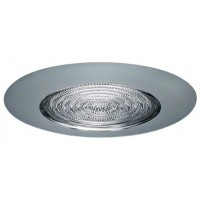 "5"" Recessed compact fluorescent (CFL) shower trim with fresnel lens chrome"