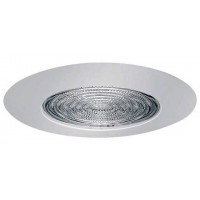 "5"" Recessed lighting shower trim with fresnel lens white"