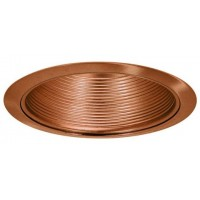 "5"" Recessed compact fluorescent baffle trim copper"