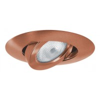 "5"" Recessed lighting copper adjustable gimbal trim"