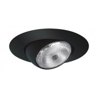 "6"" Recessed lighting black eyeball trim"