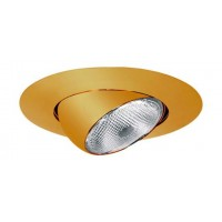 "6"" Recessed lighting polished brass eyeball trim"
