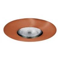 """6"""" Recessed lighting Par 30 socket holder copper open trim"""