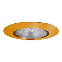 "6"" Recessed lighting Par 38 R40 polished brass open trim"