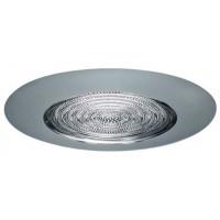 """6"""" Recessed lighting fresnel lens chrome shower trim"""