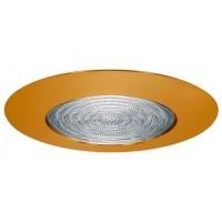 """6"""" Recessed lighting fresnel lens polished brass shower trim"""