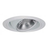 "6"" Recessed lighting regressed white eyeball white baffle white trim"
