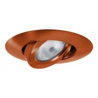 "5"" Recessed lighting bronze adjustable gimbal trim"
