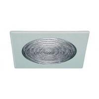 "6"" Recessed lighting fresnel lens square white shower trim"