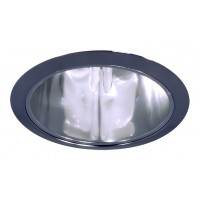 """6"""" Recessed lighting compact fluorescent specular clear chrome cone reflector chrome trim"""