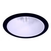 "6"" Recessed lighting compact fluorescent specular white cone reflector black trim"