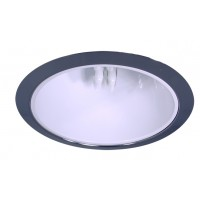 """6"""" Recessed lighting compact fluorescent specular white cone reflector chrome trim"""