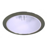 """6"""" Recessed lighting compact fluorescent specular white cone reflector polished brass trim"""
