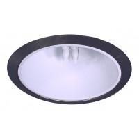 """6"""" Recessed lighting compact fluorescent specular white cone reflector satin trim"""