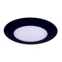 "6"" Recessed lighting compact fluorescent albalite glass lens black shower trim"