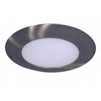 "6"" Recessed lighting compact fluorescent albalite glass lens satin shower trim"