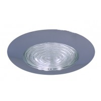 "6"" Recessed lighting compact fluorescent fresnel glass lens chrome shower trim"
