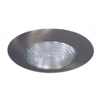 "6"" Recessed lighting compact fluorescent fresnel glass lens satin shower trim"