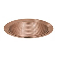 "6"" Recessed lighting compact fluorescent full copper cone baffle copper trim"
