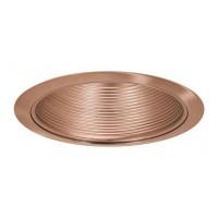"6"" Recessed lighting compact fluorescent full copper cone baffle copper trim"