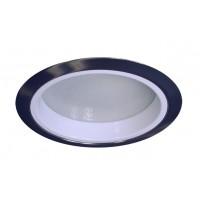 """6"""" Recessed lighting compact fluorescent albalite glass lens specular white reflector satin shower trim"""