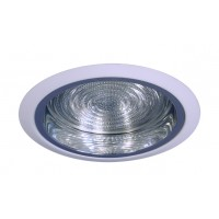 """6"""" Recessed lighting compact fluorescent fresnel glass lens specular clear chrome reflector white shower trim"""