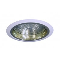 """6"""" Recessed lighting compact fluorescent fresnel glass lens specular gold reflector white shower trim"""
