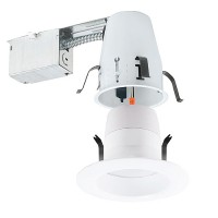 "4"" LED recessed lighting remodel IC air tight 3000K LED white trim kit Energy Star warm white"