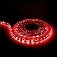 Under cabinet Red LED tape light 16ft 24volt DC SMD 5050 IP44 rated dimmable