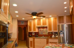 "LED 6"" and 4"" CFL recessed kitchen lights"