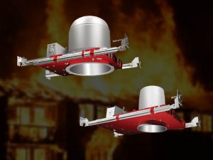 Fire rated recessed lighting
